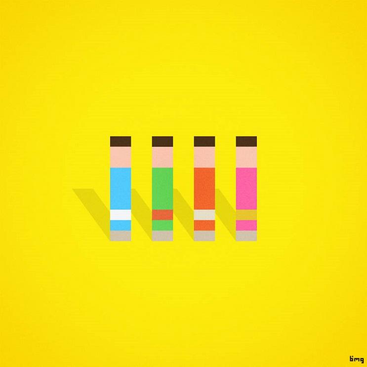 Adivinan quiénes son los personajes de estas ilustraciones minimalistas the beatles