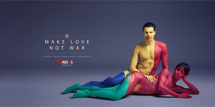 Aides nos recomienda Haz el amor, no la guerra por medio del body Paint 03