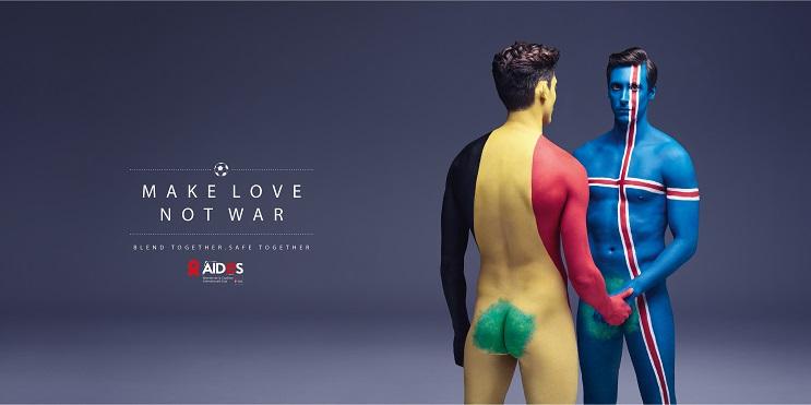 Aides nos recomienda Haz el amor, no la guerra por medio del body Paint 04