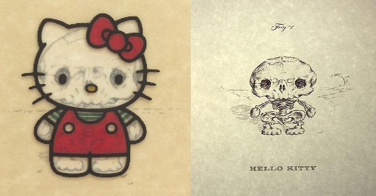 Así es como se verían los esqueletos de algunos personajes del mundo animado 01
