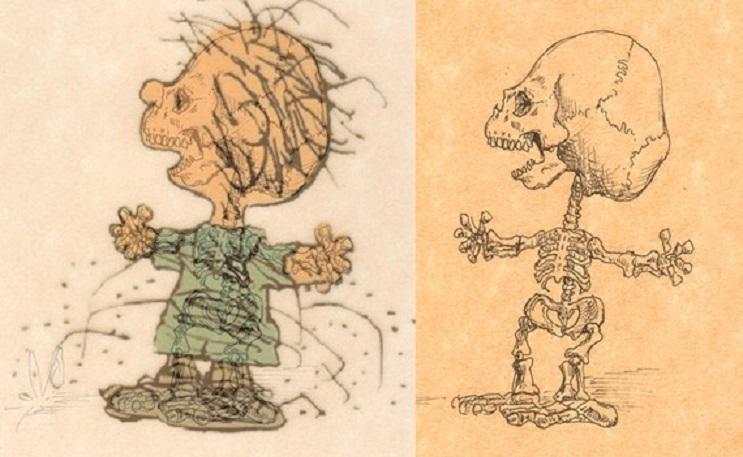 Así es como se verían los esqueletos de algunos personajes del mundo animado 07
