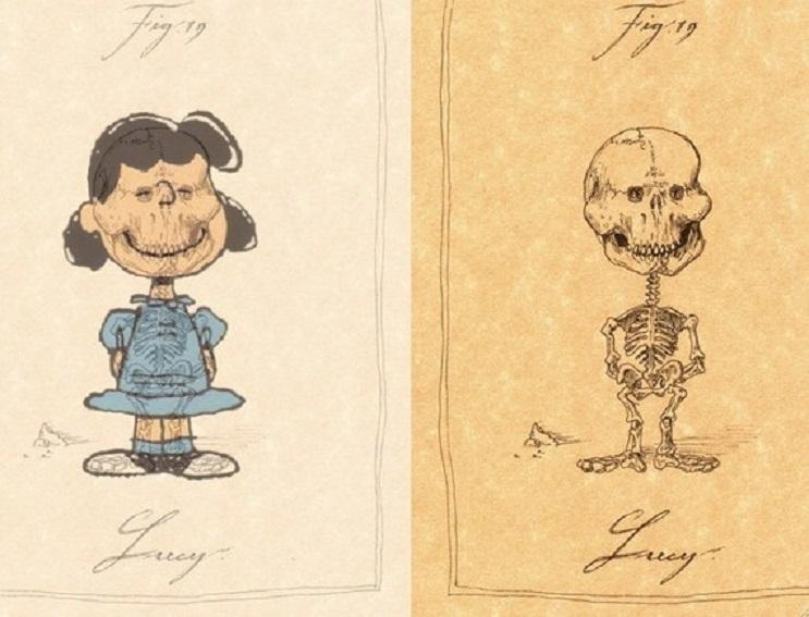 Así es como se verían los esqueletos de algunos personajes del mundo animado 10