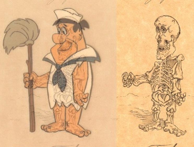 Así es como se verían los esqueletos de algunos personajes del mundo animado 11