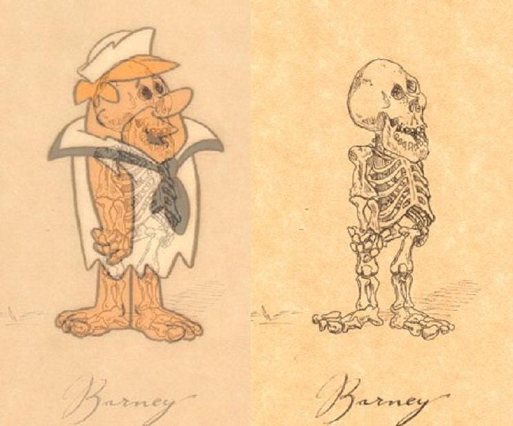 Así es como se verían los esqueletos de algunos personajes del mundo animado 12