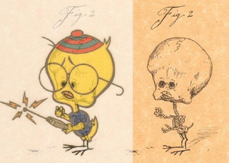 Así es como se verían los esqueletos de algunos personajes del mundo animado 15