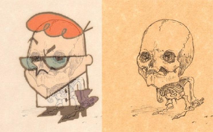 Así es como se verían los esqueletos de algunos personajes del mundo animado 16
