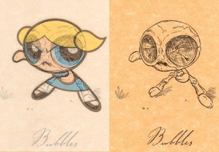 Así es como se verían los esqueletos de algunos personajes del mundo animado 17