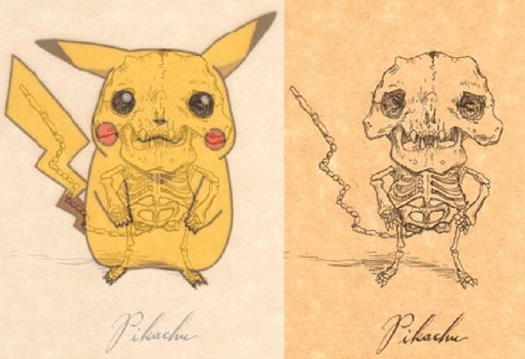 Así es como se verían los esqueletos de algunos personajes del mundo animado 19
