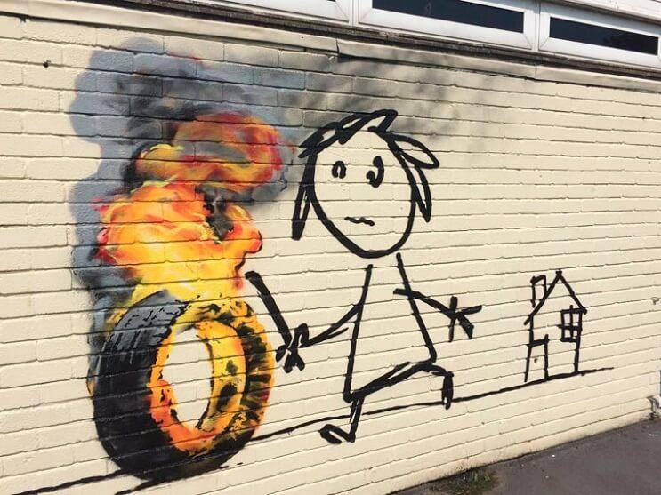 Banksy crea su propia invitación para un colegio que lleva su nombre 01