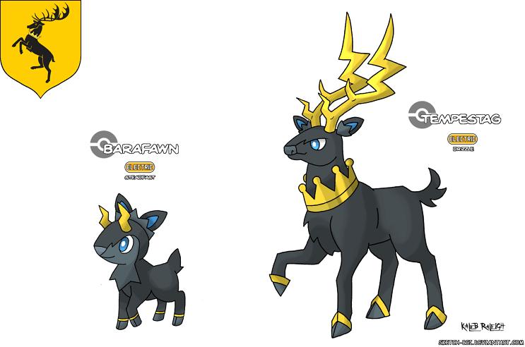 Cómo se verían los Pokémon si fueran parte de Game of Thrones Baratheon