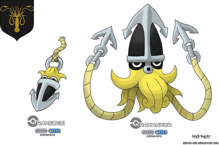 Cómo se verían los Pokémon si fueran parte de Game of Thrones Greyjoy