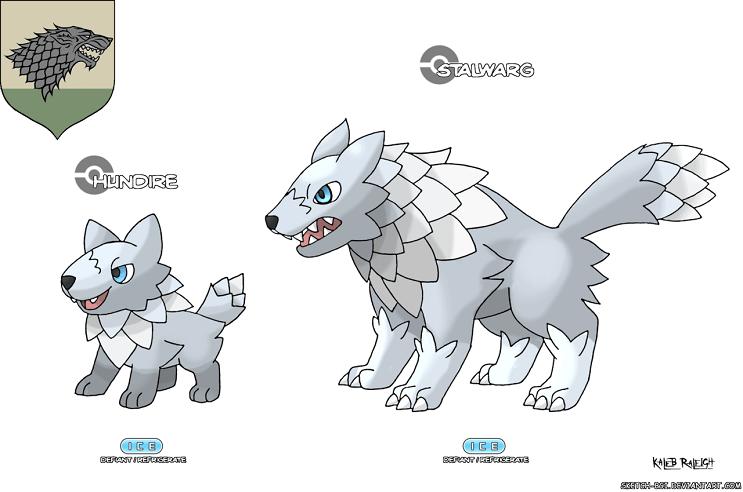 Cómo se verían los Pokémon si fueran parte de Game of Thrones Stark