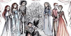 ¿Cómo se verían los personajes de Game of Thrones al estilo Tim Burton?
