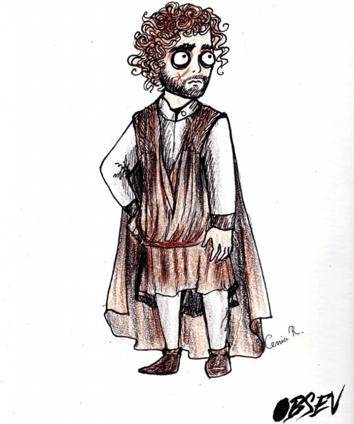 Cómo se verían los personajes de Game of Thrones al estilo Tim Burton tyrion lannister