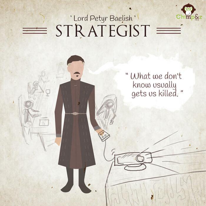 Cómo serían los personajes de Game of Thrones si trabajaran en una agencia publicitaria lord petyr baelish