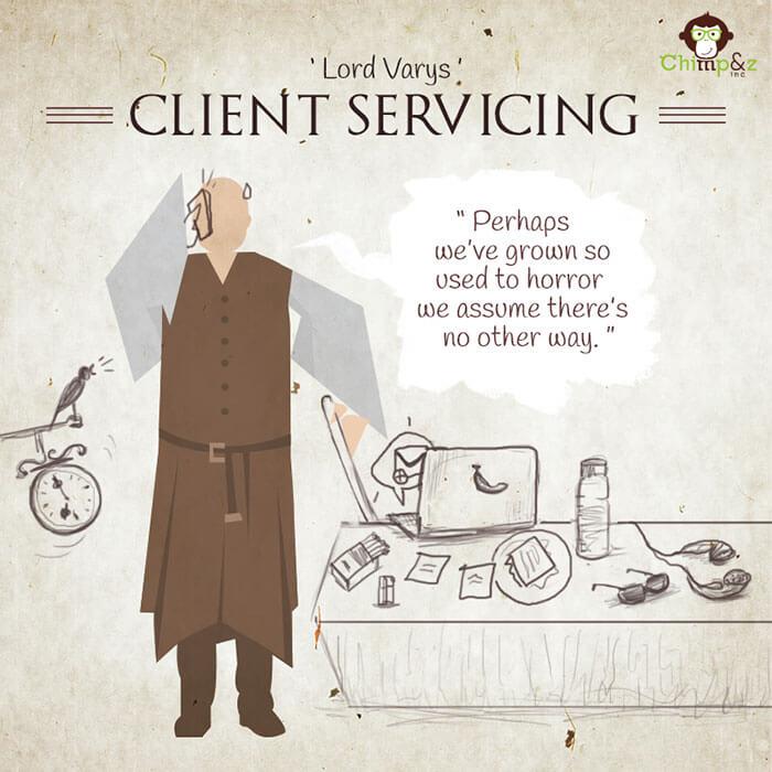 Cómo serían los personajes de Game of Thrones si trabajaran en una agencia publicitaria lord varys