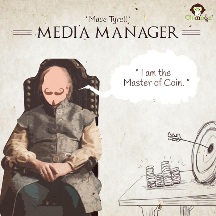 Cómo serían los personajes de Game of Thrones si trabajaran en una agencia publicitaria mace tyrell