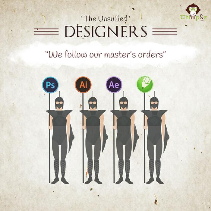 Cómo serían los personajes de Game of Thrones si trabajaran en una agencia publicitaria the unsullied