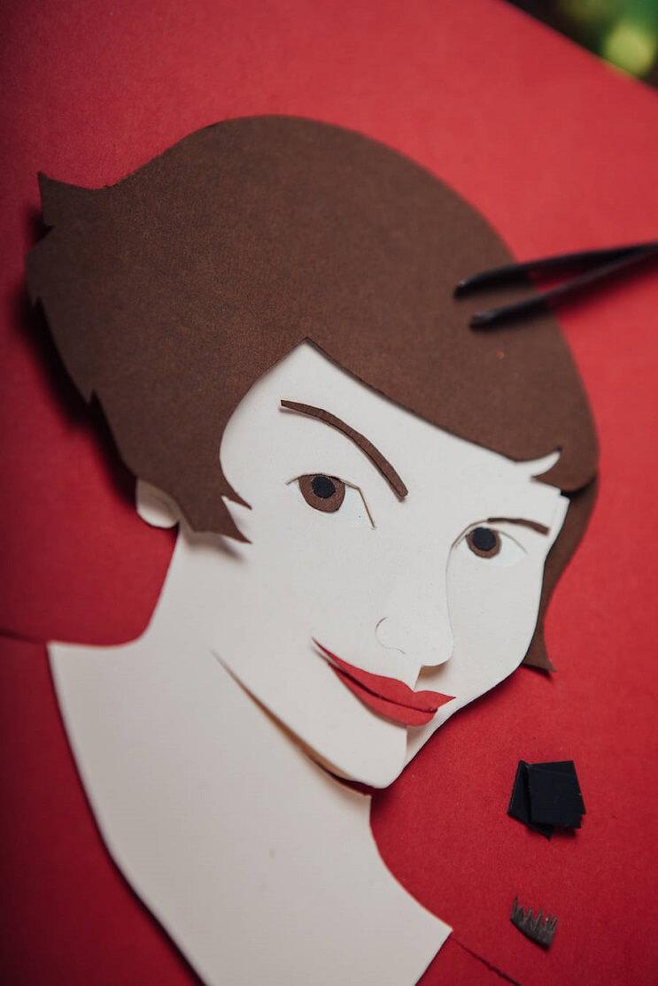 Conocidos personajes recreados en papel para el Festival de Cannes 2016 03 final