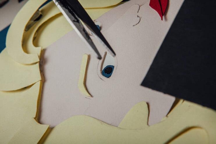 Conocidos personajes recreados en papel para el Festival de Cannes 2016 05 final
