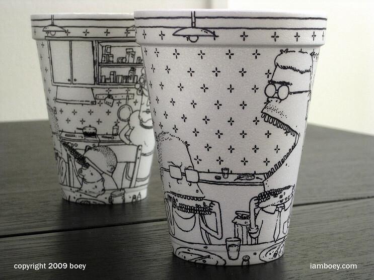 El arte de despertar y dibujar en tasas de café 07