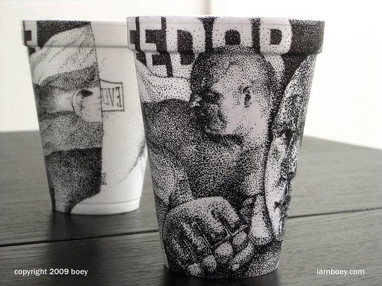 El arte de despertar y dibujar en tasas de café 08