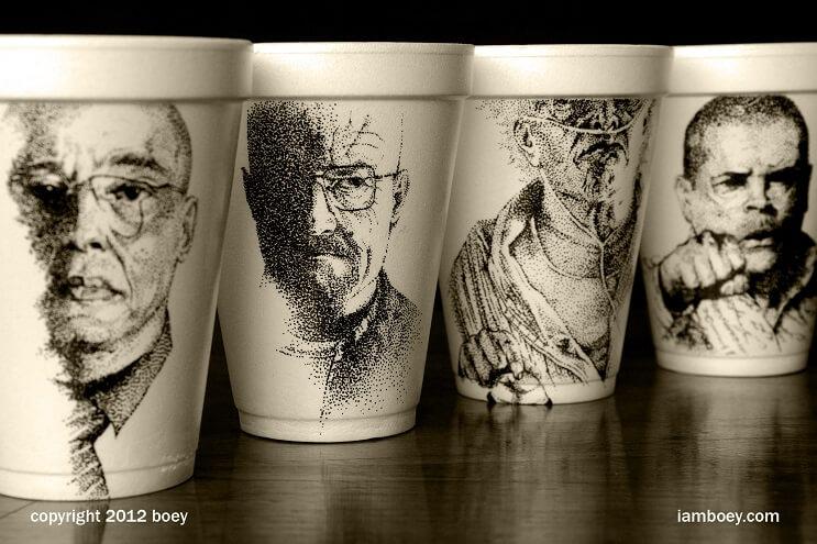 El arte de despertar y dibujar en tasas de café 09