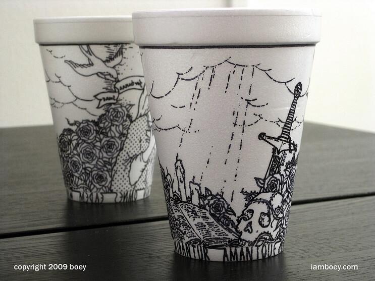 El arte de despertar y dibujar en tasas de café 10