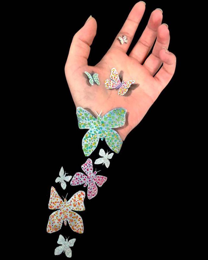 Esta artista utiliza un increíble estilo en 3D para crear arte ilusionista en sus brazos 03