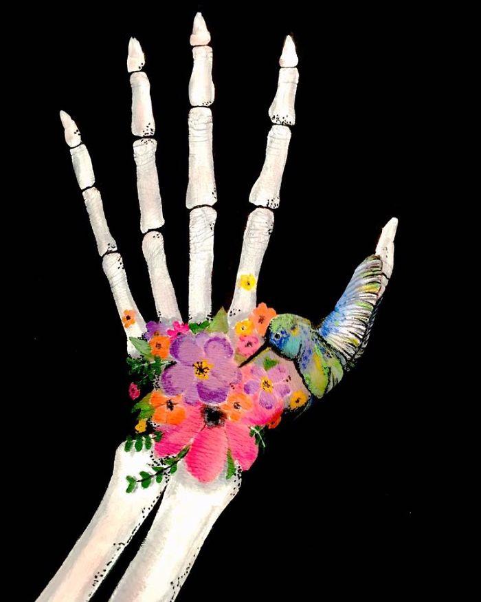 Esta artista utiliza un increíble estilo en 3D para crear arte ilusionista en sus brazos 04