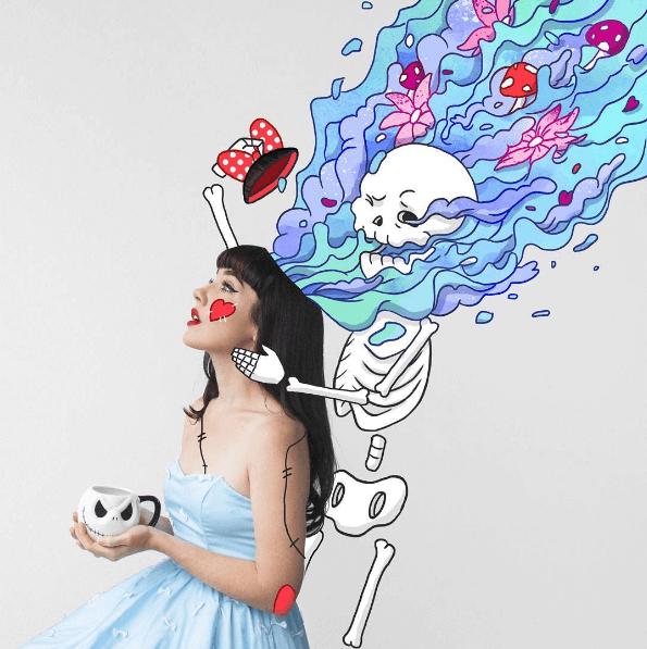 Esta ilustradora crea los más divertidos entornos para amenizar sus fotografías 02