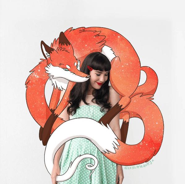 Esta ilustradora crea los más divertidos entornos para amenizar sus fotografías 03