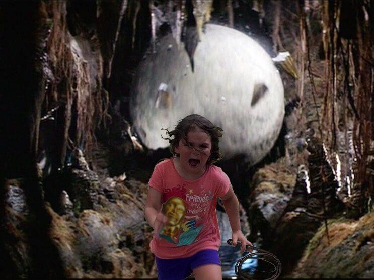 Esta niña escapa de este pavo real y los cibernautas se encargaron de hacer lo suyo 09