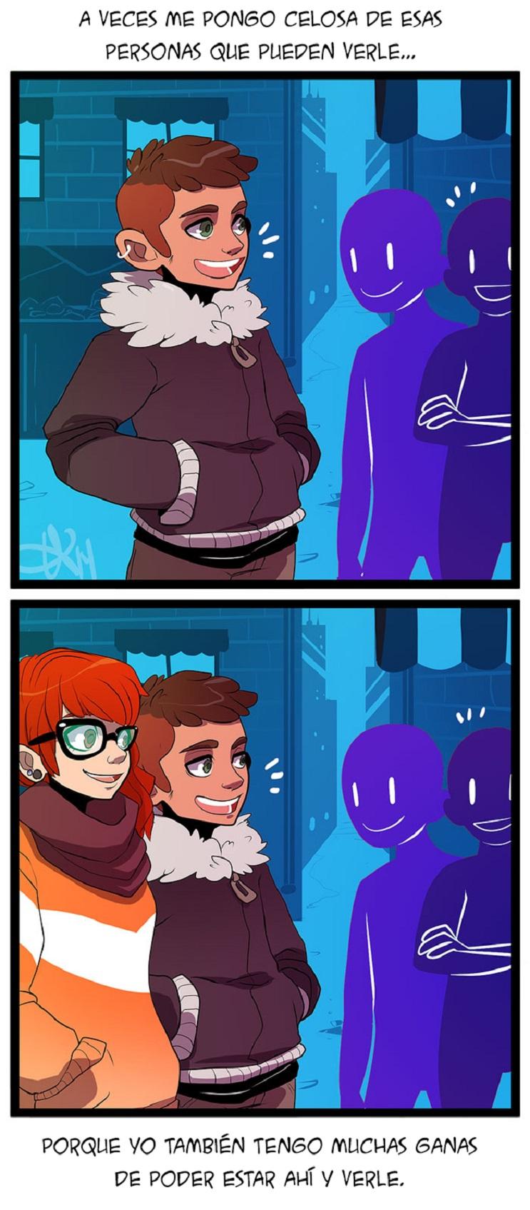 Estas ilustraciones sobre las relaciones a distancias te mostrarán los momentos difíciles y felices 06