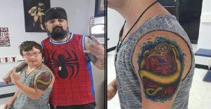 Este artista del tatuaje cumplió con la ilusión de un joven con síndrome de down