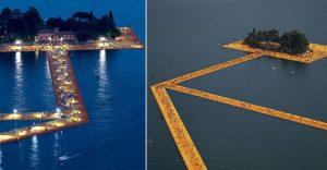 Este camino flotante es toda una obra de arte