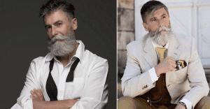 Este hombre se convirtió en modelo a los 60 años