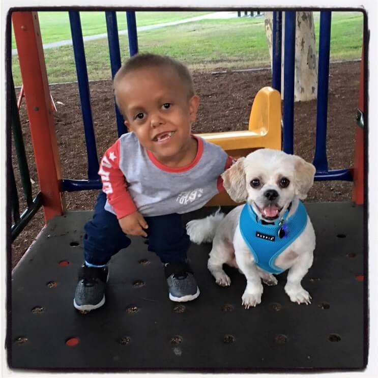 Este perro ayuda a este niño con enanismo a enfrentarse a quienes se burlan de él 01