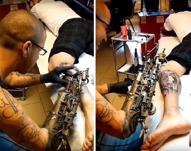 Este tatuador perdió un brazo y ahora tiene la primera prótesis para tatuar 01