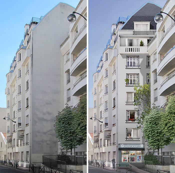 Increíbles fachadas pintadas que te harán dudar si son reales 04