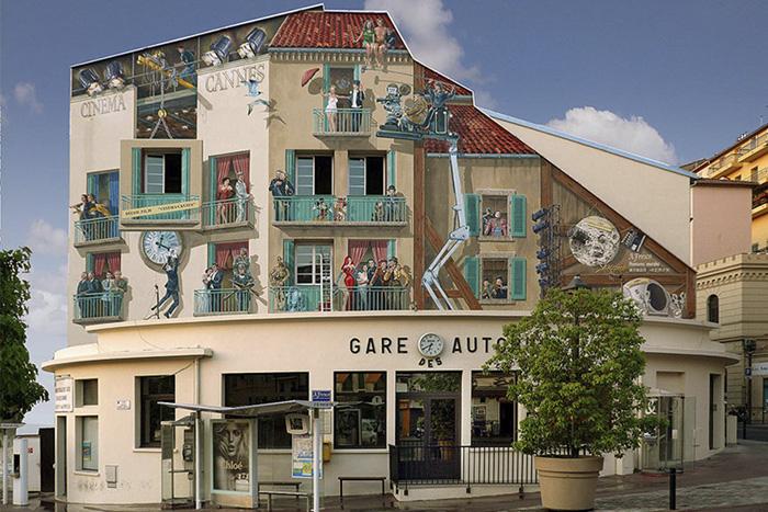 Increíbles fachadas pintadas que te harán dudar si son reales 05
