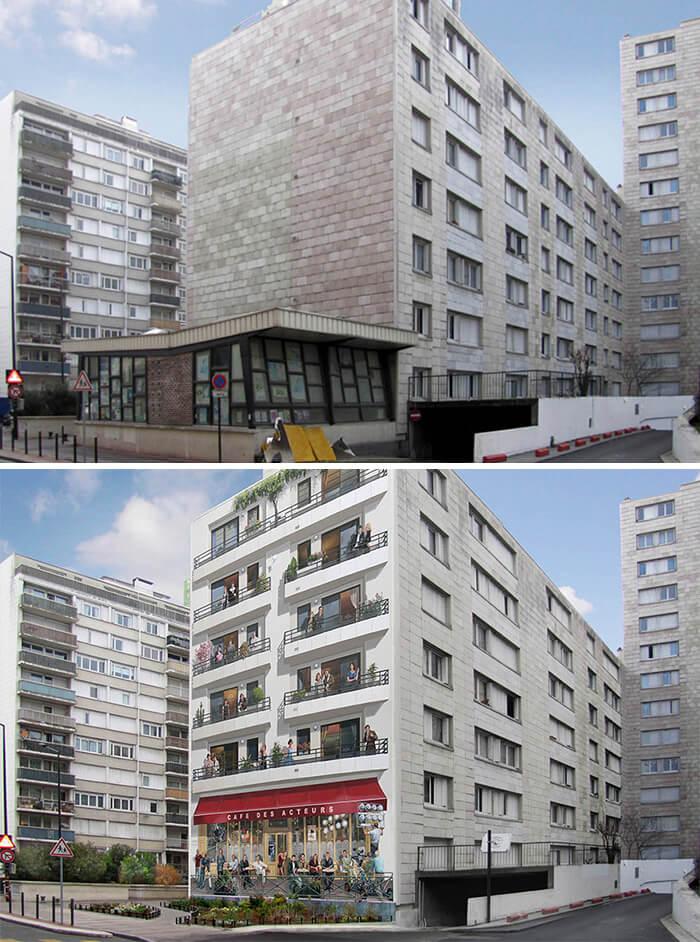 Increíbles fachadas pintadas que te harán dudar si son reales 08