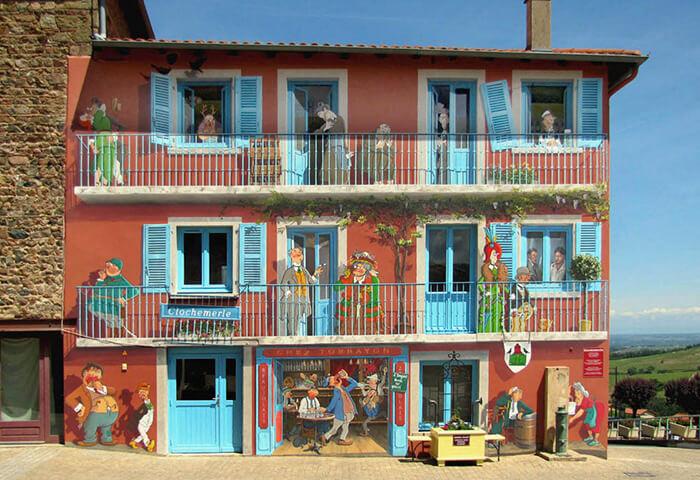 Increíbles fachadas pintadas que te harán dudar si son reales 15