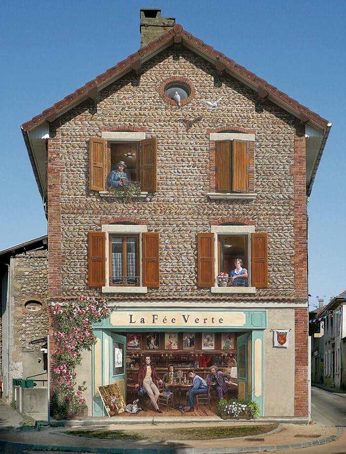 Increíbles fachadas pintadas que te harán dudar si son reales 16