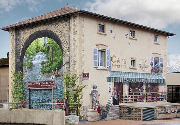 Increíbles fachadas pintadas que te harán dudar si son reales 18