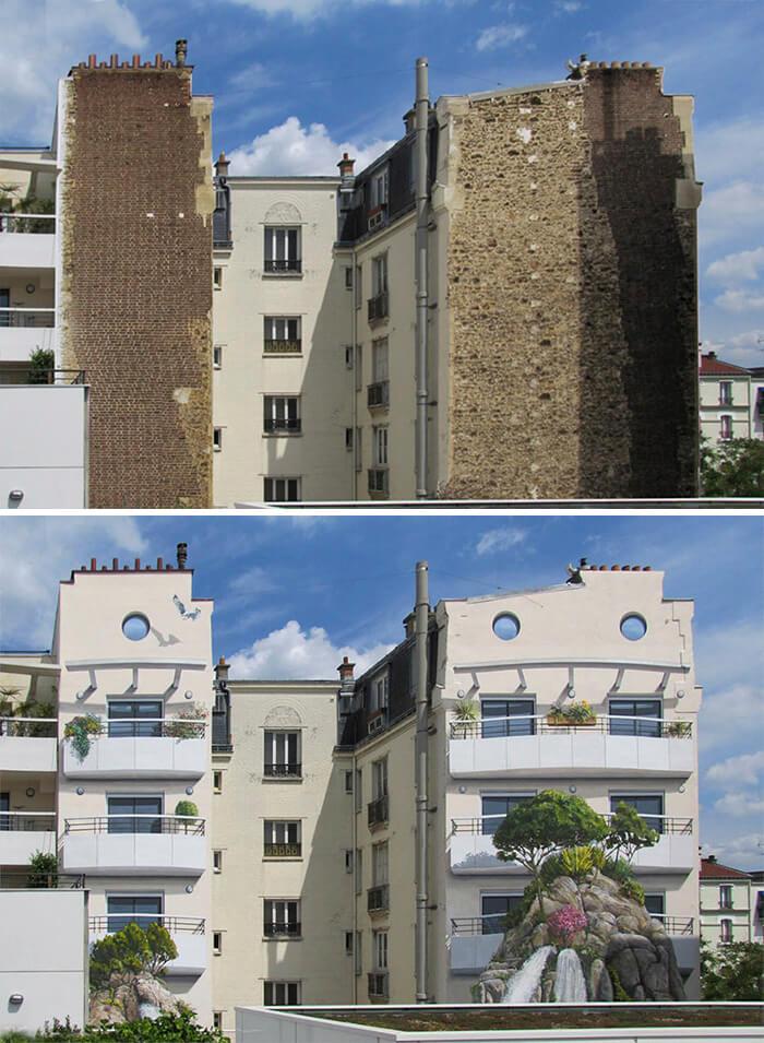 Increíbles fachadas pintadas que te harán dudar si son reales 40