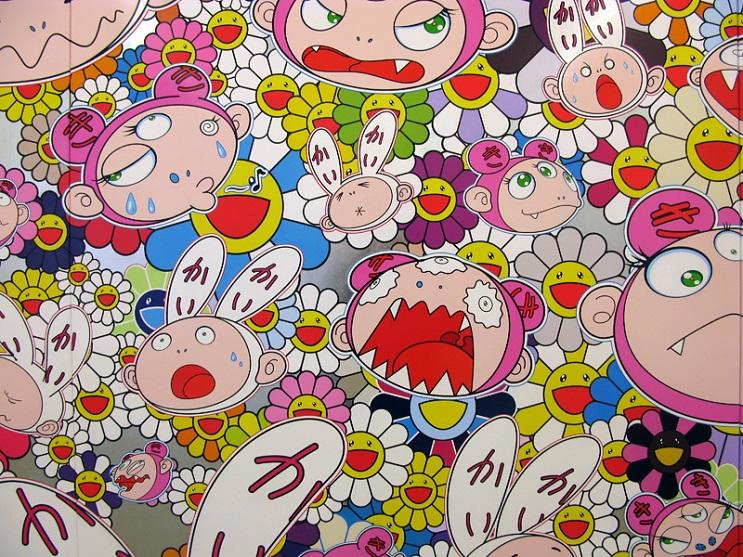 Increíbles fotos de cuerpos pintados en homenaje a Takashi Murakami 1