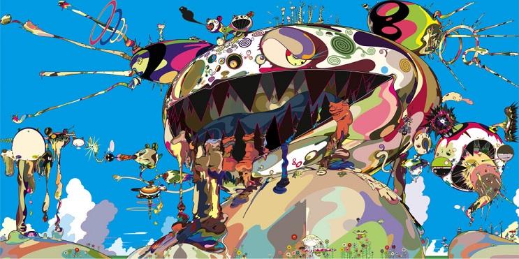 Increíbles fotos de cuerpos pintados en homenaje a Takashi Murakami 4