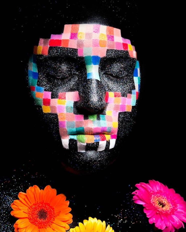 Increíbles fotos de cuerpos pintados en homenaje a artista japonés - Magali Guitter