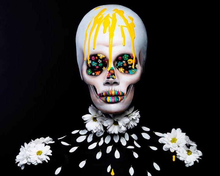 Increíbles fotos de cuerpos pintados en homenaje a artista japonés - Margaux Lievin